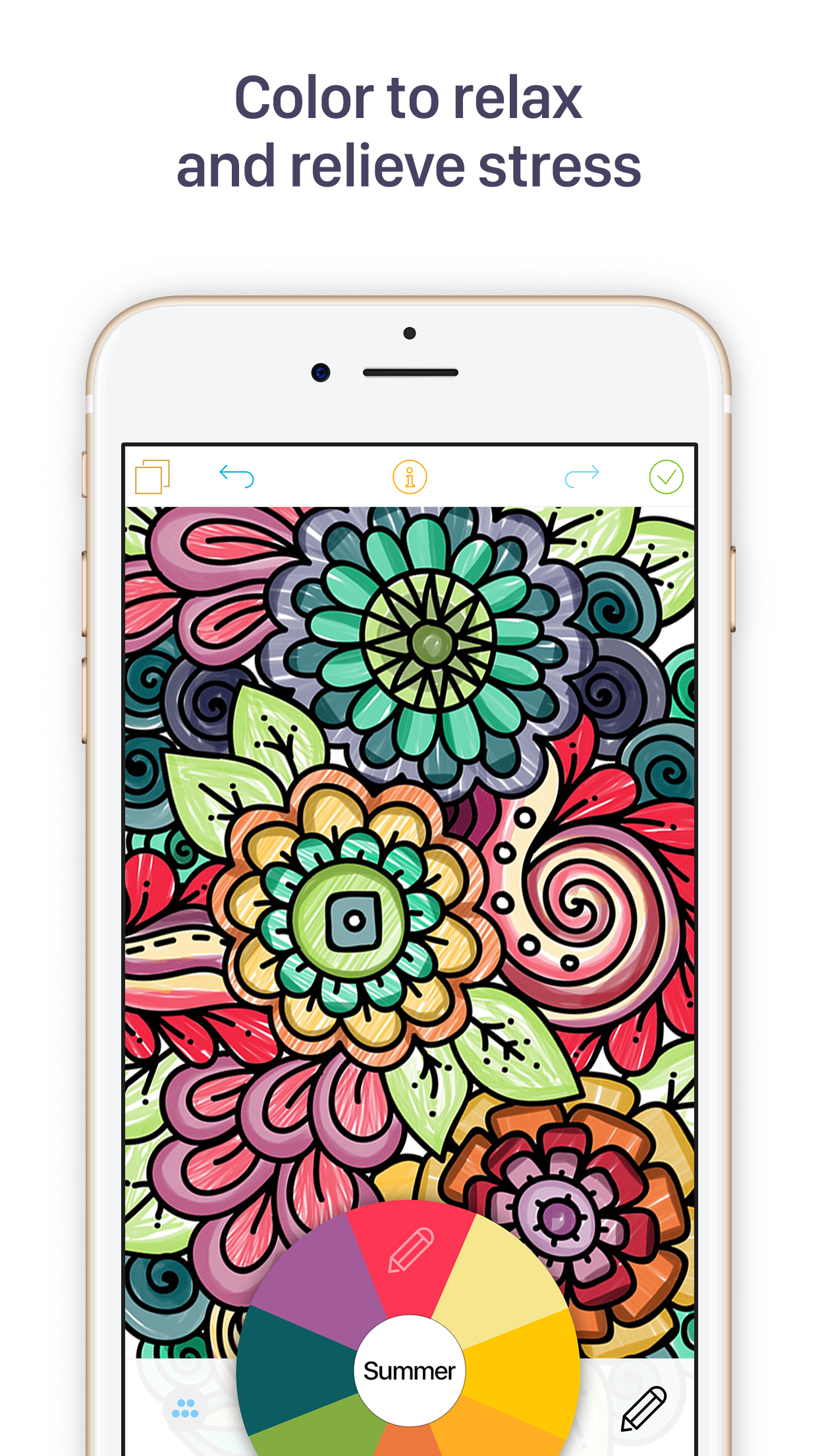 Coloring Book For Adults Mobile Screen Shot Image